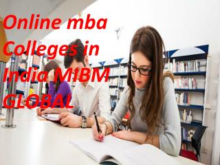 Online mba colleges in India you to shine in the corporate world