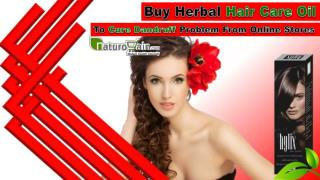 Buy Herbal Hair Care Oil To Cure Dandruff Problem From Online Stores