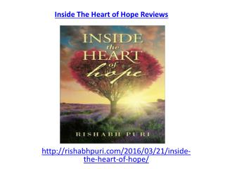 "Read reviews for an awesome book ""Inside the heart of hope"""