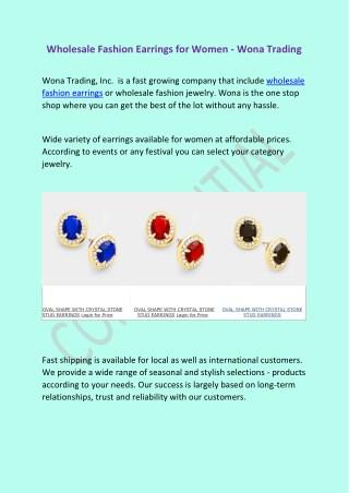 Wona Trading - Wholesale Fashion Earrings for Women