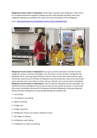 Best Refrigerator Service Center in Hyderabad   goservicezone.in