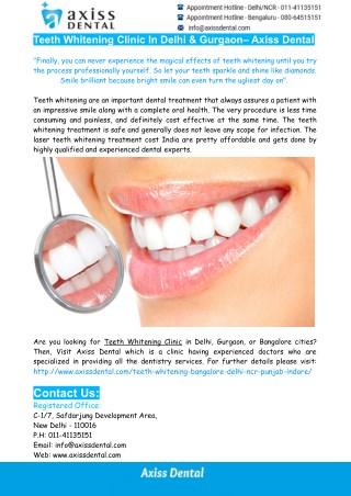 Laser Teeth Whitening In India-Teeth Whitening Clinic In Gurgaon