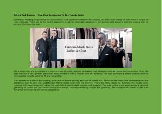 Tuxedo Suits Designer for Men in Chicago