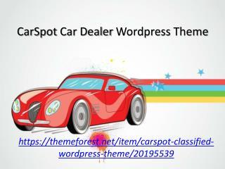 CarSpot Automotive Car Dealer Wordpress Theme