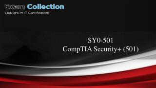 CompTIA Security  practice test for SY0-501 - SY0-501 Exam Questions