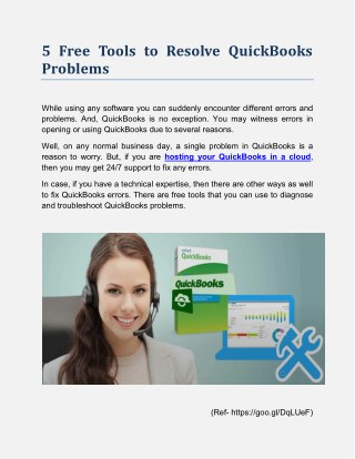 5 Free Tools to Resolve QuickBooks Problems
