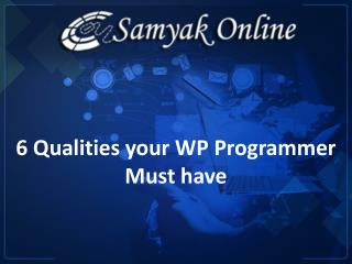 6 Qualities Your WP Programmer Must Have