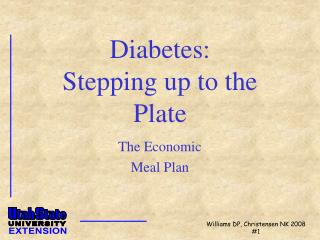 Diabetes: Stepping up to the Plate
