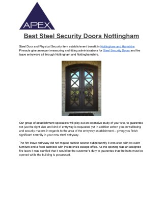 Best Security Doors Nottingham , Steel Front Doors, Steel Doors