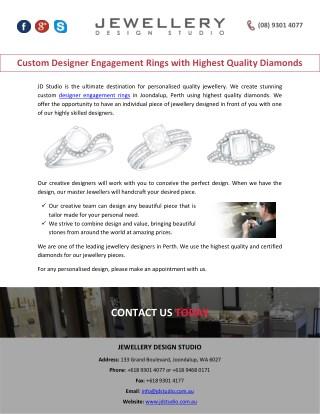 Custom Designer Engagement Rings with Highest Quality Diamonds