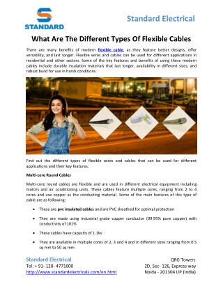 What Are The Different Types Of Flexible Cables
