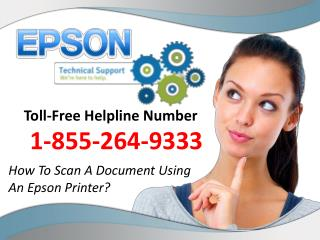 How To Scan A Document Using An Epson Printer?