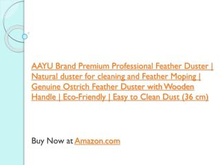 AAYU Brand Premium Professional Feather Duster | Natural duster for cleaning and Feather Moping | Genuine Ostrich Feathe