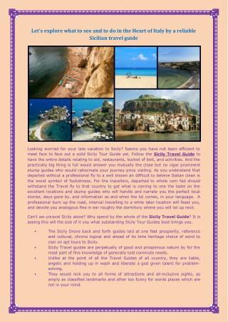 Explore the thrilling Sicily destinations through Sicily Travel Guide