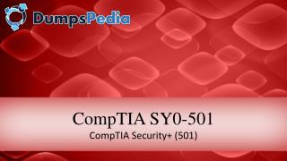 CompTIA Security  Sy0-501 Dumps With Real Exam Questions