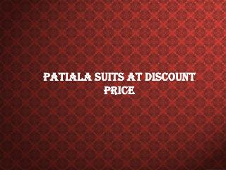 Patiala Suits At Discount Price