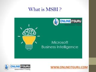 MSBI Online Training |   Start your Career with MSBI