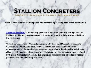 Resurfacing Overlay, Concrete Driveways, Pathways and Patios - Stallion Concreters