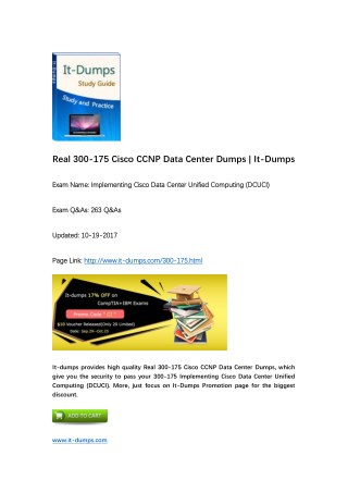 [2017 New] CCNP Data Center 300-175 DCUCI Real Dumps