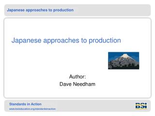 Japanese approaches to production