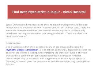 Find Best Psychiatrist in Jaipur - Vivan Hospital