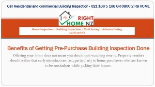 Benefits of Getting Pre-Purchase Building Inspection Done