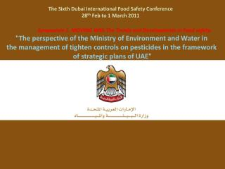 Symposium 1. MOVING With The Trends and Developments in Food safety:  The perspective of the Ministry of Environment and