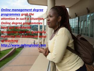 Online management degree programmes in online MBA
