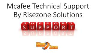 Mcafee Technical Support | Risezone Solutions