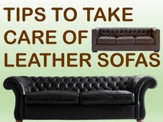 How to take care of leather sofa