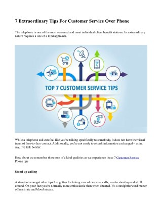 7 Extraordinary Tips For Customer Service Over Phone