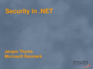 Security in .NET