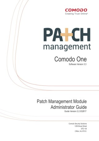 Patch Management Module Administrator Guide - Comodo One