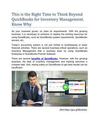 Right Time to Think Beyond QuickBooks for Inventory Management
