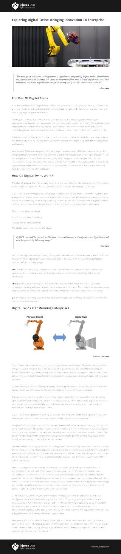 Exploring Digital Twins: Bringing Innovation To Enterprise