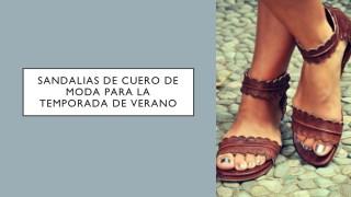 Sandalias de cuero de moda para la temporada de verano