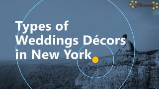 Types of Weddings Décors in New York