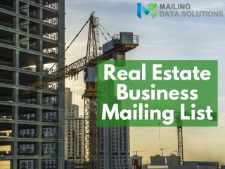 Real Estate Business Email List