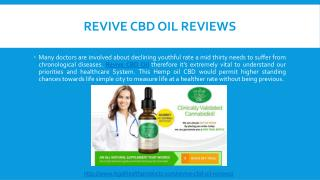 How Does Revive CBD Oil Works and Where To Buy?
