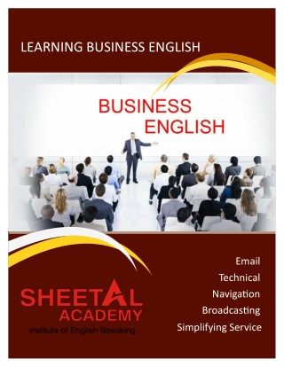 Learn Business English to Develop your Speaking Skills in Surat