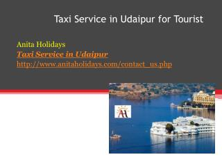 Taxi Service in Udaipur for Tourist
