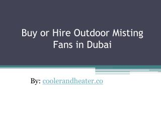 Buy or Hire Wall Mounted Misting Fans in Dubai