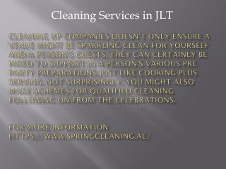 Cleaning services in JLT