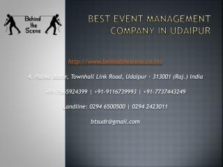 Best Event Management Company in Udaipur