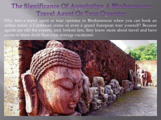 The Significance Of Appointing A Bhubaneswar Travel Agent Or Tour Operator