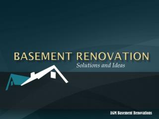 Basement Renovations - Solutions and Ideas