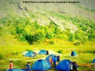 9 Best Places in Bangalore for Camping