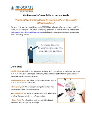 INFOCRATS Web Solutions Provides best Web Solutions in India