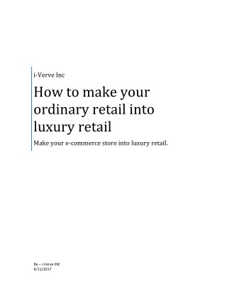 How to make your ordinary retail store in luxury retail online