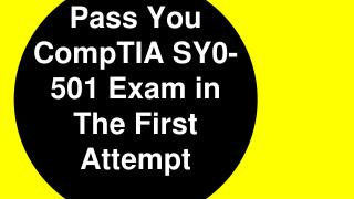 SY0-501 Practice Exam Questions